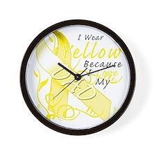 I Wear Yellow Because I Love My Dad Wall Clock