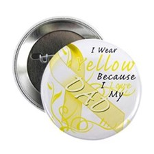 "I Wear Yellow Because I Love My Dad 2.25"" Button"