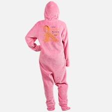 I Wear Yellow Because I Love My Dau Footed Pajamas