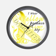 I Wear Yellow Because I Love My Daughte Wall Clock