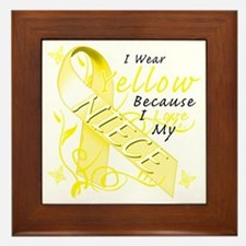 I Wear Yellow Because I Love My Niece Framed Tile