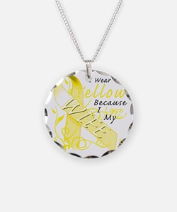 I Wear Yellow Because I Love Necklace