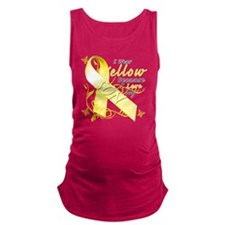 I Wear Yellow Because I Love My Maternity Tank Top