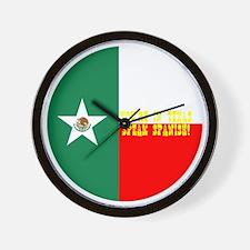 texico flag button Wall Clock