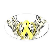 Awareness Tribal Yellow copy Oval Car Magnet