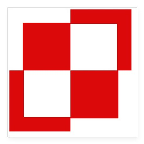 "10x10-Szachownica-till19 Square Car Magnet 3"" x 3"""