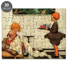 Vintage Curly Locks Print Puzzle
