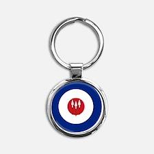 831x3-RRAF_roundel Round Keychain
