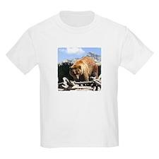 Big Sky Grizzly Bear Kids T-Shirt