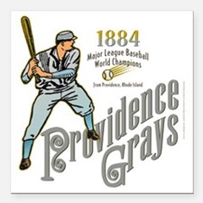 "Providence Grays Square Car Magnet 3"" x 3"""