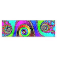 Enamel Spirals Bumper Sticker