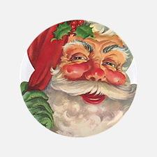 "Santa Claus 3.5"" Button"