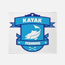 Kayak Fishing Throw Blanket