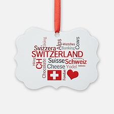 Switzerland2tilt Ornament
