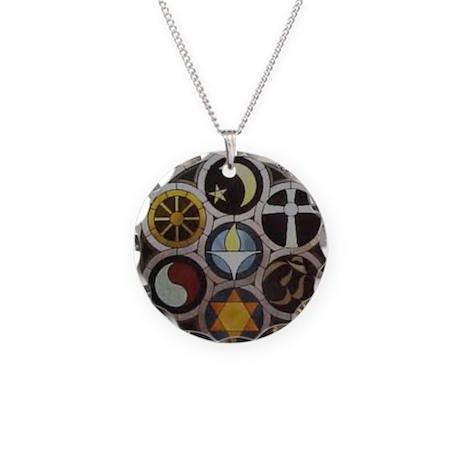 uu symblesBBB Necklace Circle Charm