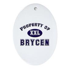 Property of brycen Oval Ornament