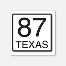 """Hwy 87 Sign Square Sticker 3"""" x 3"""""""