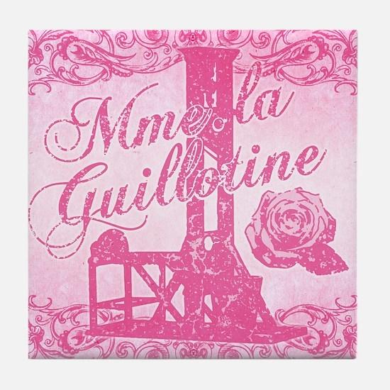 mme-la-guillotine-pink_13-5x18 Tile Coaster