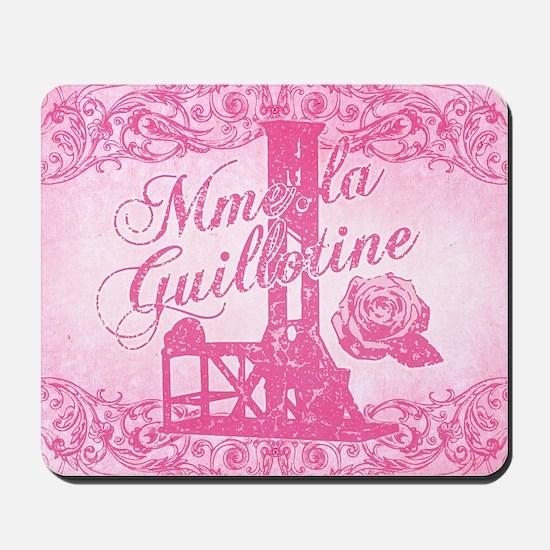 mme-la-guillotine-pink_13-5x18 Mousepad