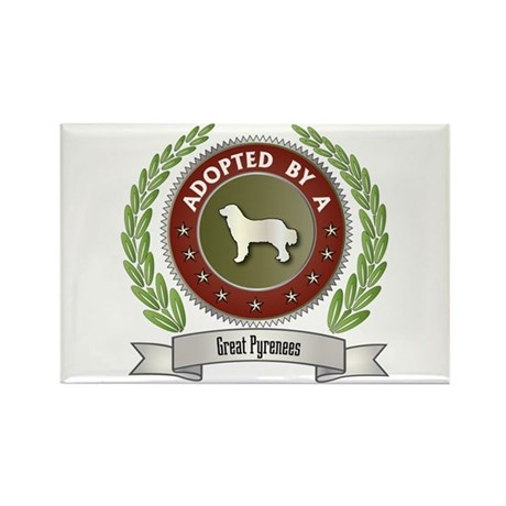 Pyrenees Adopted Rectangle Magnet (10 pack)