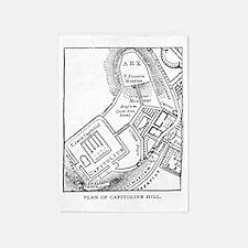 capitolinehillplan(shm13) 5'x7'Area Rug
