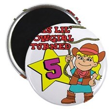 This Little Cowgirl Turned 5 Magnet