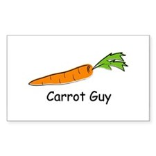 Carrot Guy Rectangle Decal