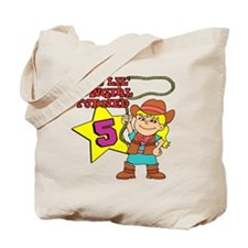 This Little Cowgirl Turned 5 Tote Bag