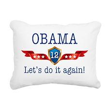 ObamaLetsDoItAgain Rectangular Canvas Pillow