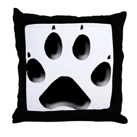 Wolf Track Throw Pillow