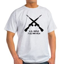 U.S.Rifle, Crossed, White OL T-Shirt