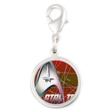 tholian web red Silver Round Charm