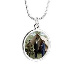 abe 16x20_print Silver Round Necklace