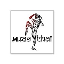 "Muay Thai Square Sticker 3"" x 3"""