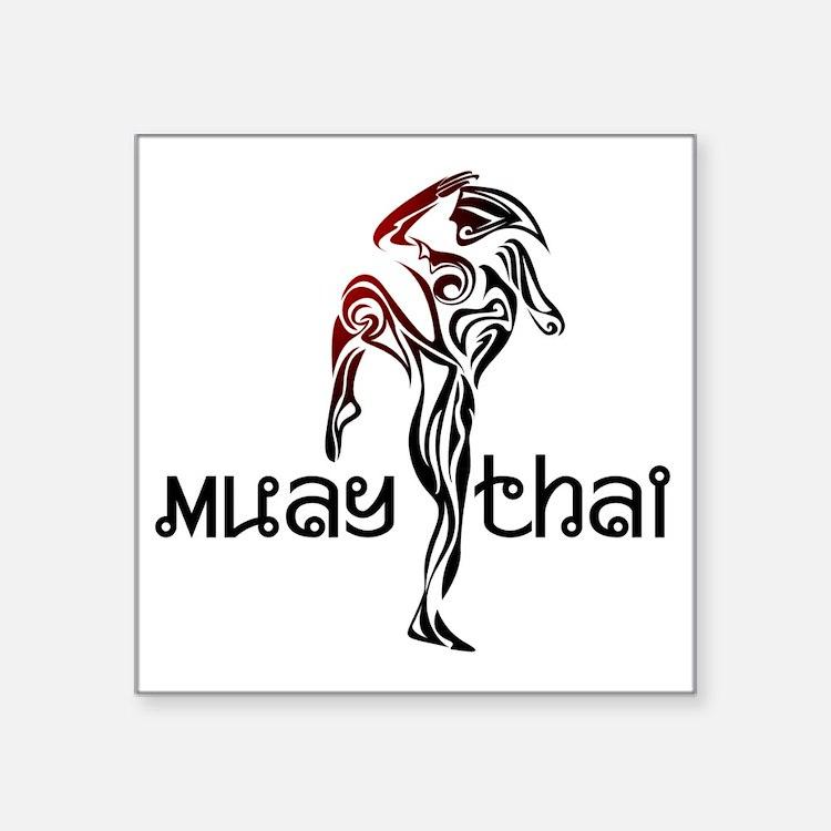 "Muay Thai Square Sticker 3"" x 3"""