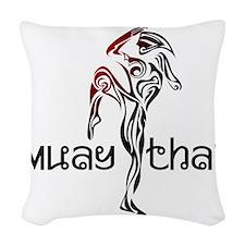 Muay Thai Woven Throw Pillow