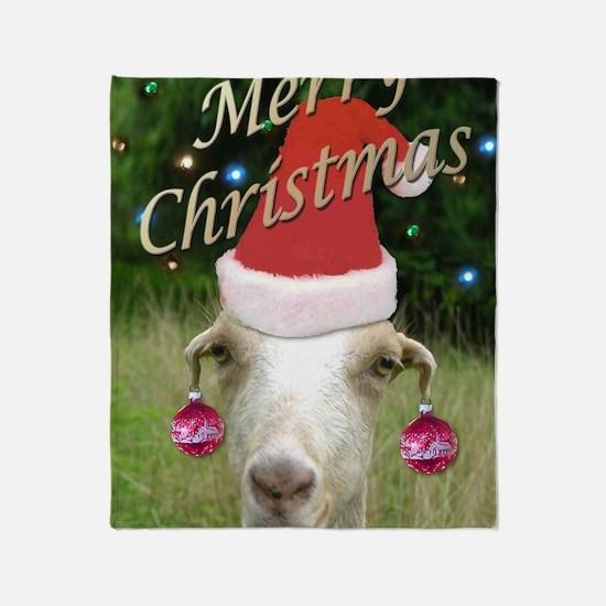 Merry Xmas Ruby Throw Blanket