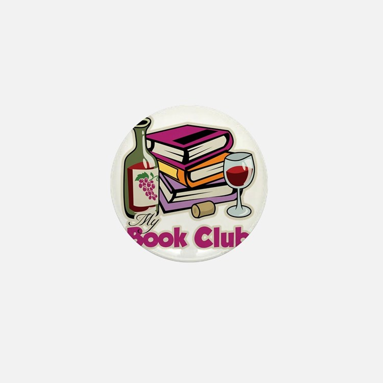 Wine-My-Book-Club Mini Button