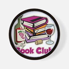 Wine-My-Book-Club Wall Clock