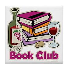 Wine-My-Book-Club Tile Coaster