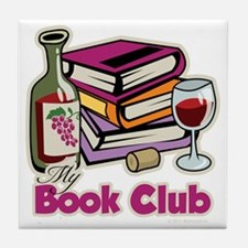 Wine-My-Book-Club Tile Coaster