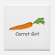 Carrot Girl Tile Coaster