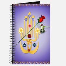 LargePosterHamsa and Flowers Journal