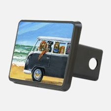 Bus Full of Dogs on the Be Rectangular Hitch Cover