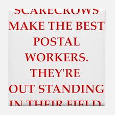 postal worker Tile Coaster