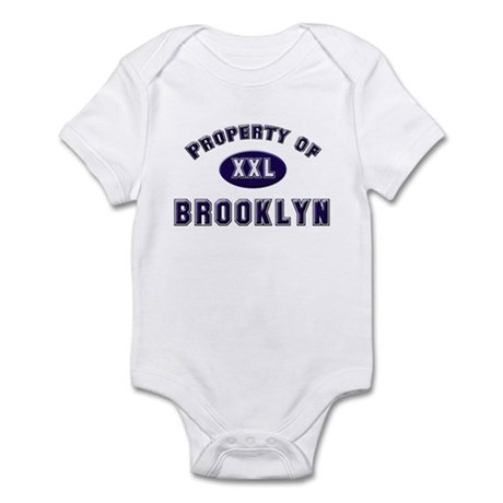 Property of brooklyn Infant Bodysuit
