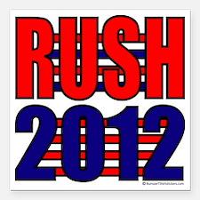 "Rush 2012 Square Car Magnet 3"" x 3"""