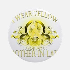 I Wear Yellow for my Mother In Law  Round Ornament