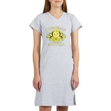 I Wear Yellow for my Brother (f Women's Nightshirt