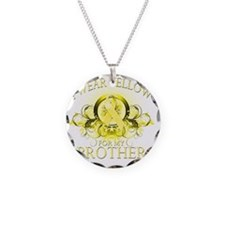 I Wear Yellow for my Brother Necklace